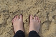 Sand between the toes!